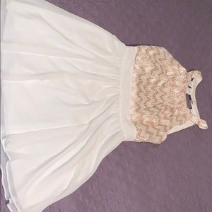 Sequin hearts ivory dress
